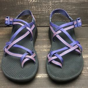 Chacos Purple Strappy Sandals Size 8
